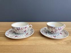 Zsolnay historizáló kávés csészék