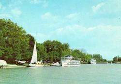 Ba 094 Színes körkép a Balaton vidékről a XX.század közepén .Siófok, kikötő
