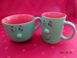 Mázas kerámia pohár - Möbelix termék, két darabos.