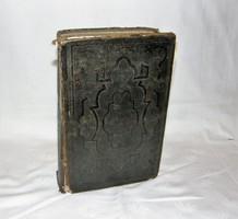 Antik Biblia Sacra Bákona Gót Betűs