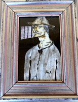 Érdekesség! Ismeretlen művész – A sötétség rabja című üvegfestmény – 197.