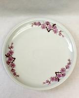 Alföldi porcelán süteményestál, Bella készlet, barackvirágos dekor