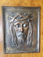 Beautiful bronze Christ portrait, nominated craftsman artwork