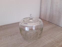 Antik üveg cukortartó.