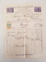 Régi szikvizes szódás számla. 1926. Gyűjtői darab.