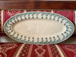 Hatalmas antik ovális Zsolnay kínáló tál tányér szecessziós mintával, csodaszép, ritka darab