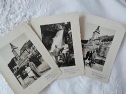 Antik magyar fotósorozat Lillafüred Palotaszálló, vízesés, kirándulás 1938 Maksay László és Fia fotó