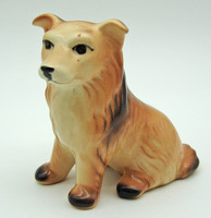 B714 Jelzett porcelán kutya - szép, gyűjtői darab