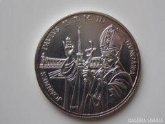 1991 BU Pápa látogatás ezüst 500 forint UNC 02.