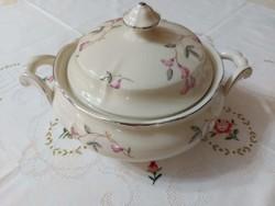 Német porcelán Thomas Ivory (jelzés szerint 1939-1953) szószos tál
