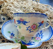 Sarreguemines Minton porcelánfajansz teás kávés csésze aljjal