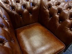 Chesterfield (új) angol valódi bőr ülőgarnitúra 3-2-1 eladó