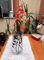 Egyedi stílusú modern mintájú összecsukható PE virágváza