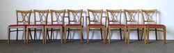 1E763 Gyönyörű kárpitozott stílbútor szék garnitúra 6 + 2 darab