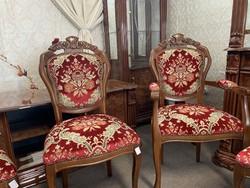 Új 6 db Gyönyörű Neobarokk székek!