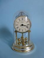 Gyönyörű,retro,forgóingás asztali kandalló óra