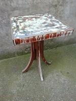Retro fa kis asztal, művészi design
