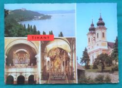 Magyarország,Tihany,Apátsági templom,postatiszta képeslap,1987