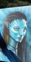 Avatar Navi különleges airbrush festmèny
