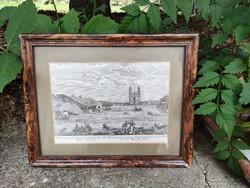 Metszet az 1838. évi nagy pesti árvízről