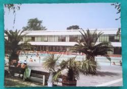 Magyarország,Harkányfürdő,Strand,postatiszta képeslap,1983