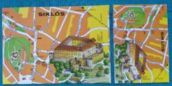Magyarország,Siklós,térképes,postatiszta képeslap,1980