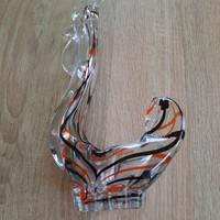 Muranoi üveg kakas figura