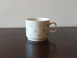 Ritka Zsolnay kék esernyős porcelán gyerek bögre csésze pohár retro art-deco mintával