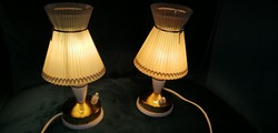 Art -Deco Bauhaus Molecz pici réz   aztali lámpa búrával. Alkudható!