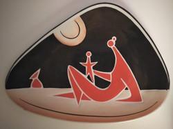 2 pcs zsolnay turkish jános: rare jazz bowl and horoscope bowl