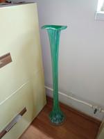 Nagy zöld muránói váza, üvegváza large murano galass vase