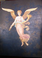 Angyalos, nagy, gyönyörű litho grafika