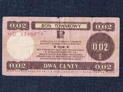 Lengyelország Utazási kupon 2 amerikai cent bón 1979 (id51562)