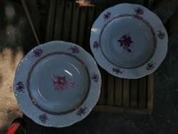2 db hibátlan Herendi Apponyi mély tányér