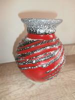 Retro váza Piros-szürke-fekete