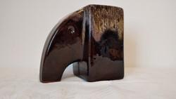 Art Deco jellegű mázas Elefánt váza