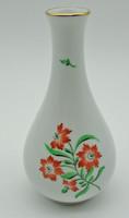 B771 Herendi ritka virágmintás váza 16 cm - szép hibátlan állapotban