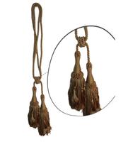 Klasszikus zsinóros kétfejes függönyelkötő – Óarany  szín