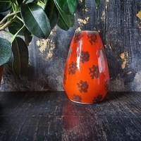 Narancsvörös retro kerámia váza