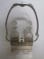 Elegáns régi ezüst OLAJ ECETTARTÓ 800as