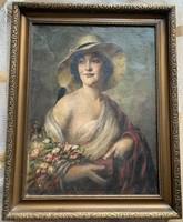 Ismeretében alkotó: Hölgy kalapban