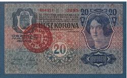 1920 20 Korona 1913 I. kiadás VF MAGYARORSZÁG bélyegzéssel