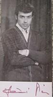 SZÉCSI PÁL TÁNCDALÉNEKES ELŐADÓMŰVÉSZ DEDIKÁLT SAJÁTKEZÜLEG ALÁÍRT FOTÓLAP 1971