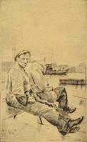 1E916 Dombrovszky László : Kikötőben
