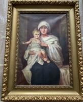 Ismeretében alkotó: Szűz Mária és a kisded Jézus
