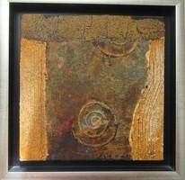 Székács Zoltán (1954-) Rozsdás csiga - kortárs festmény
