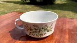 Alföldi vitrin teás csésze bögre zöld csokros pohár