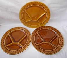 Sarreguemines,francia osztott fondue,mártogatós tányérok 3db