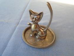 Jelzet Ezüst ötvözet böl készült  nysilver  csodálatos cica szobrocska  179gramm