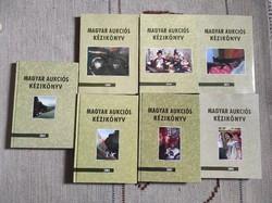 Magyar Aukciós Kézikönyv 7 db